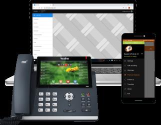 SIMpbx, vaste telefoon en basicvoice zoiper